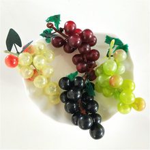 2pcs/lot Artificial Fruit Grapes Plastic Fake Decorative Lifelike Home Wedding Party Garden Decor Mini Simulation