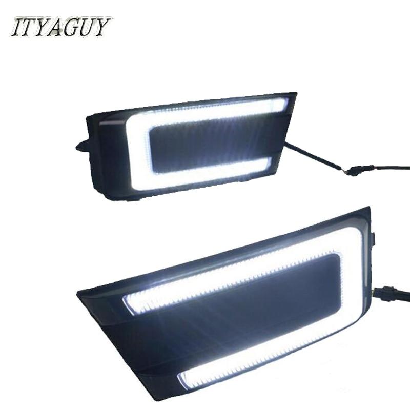 ITYAGUY New product 2Pcs DRL Daytime Running Lights for <font><b>Skoda</b></font> <font><b>Octavia</b></font> RS A7 2015 2016 2017 <font><b>led</b></font> drl Fog lamp 12V DRL <font><b>LED</b></font>