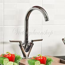 La mejor promoción de la cocina baño de cromo bañera lavabo del fregadero caño giratorio mezclador grifo grifo precio más bajo