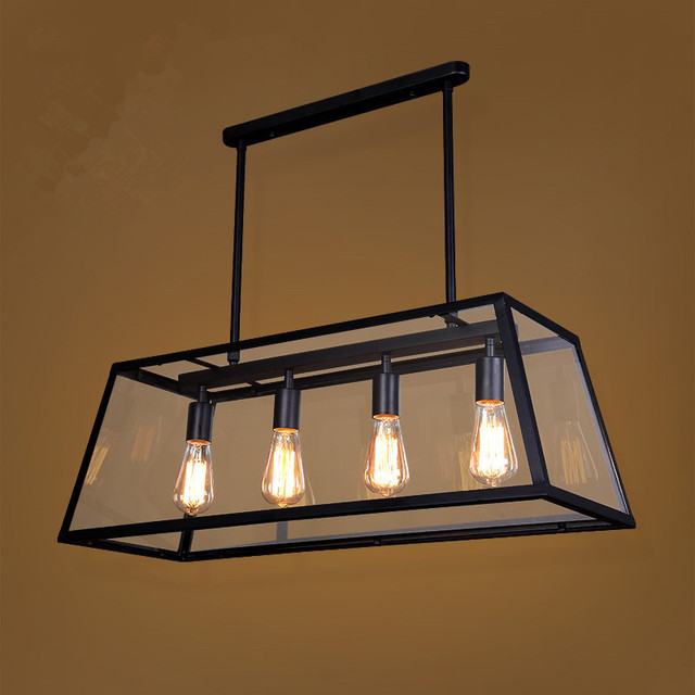 Led Pendant Lights Vintage Clear Gl Light Copper Hanging Lamps Bulbs Modern