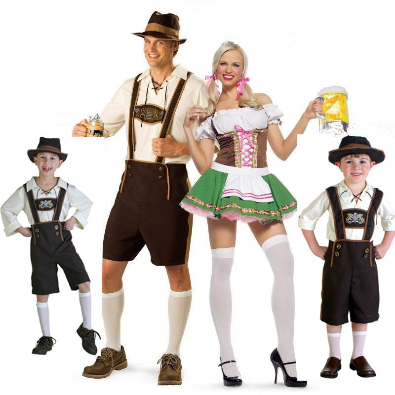 New Halloween Celebrity Dresses Family Oktoberfest Costume For Men Women Kid Beer Festival Cosplay Carnival Cute Role Sets PS002