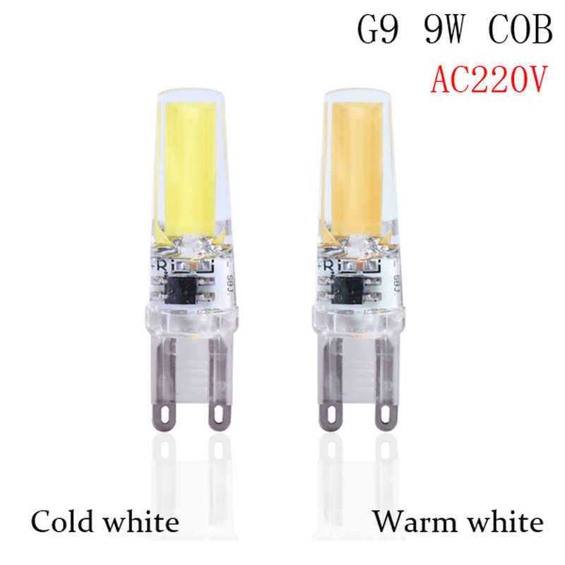 1pcs/lot  Lowest price G9 LED Lamp COB LED Bulb 5W 6W 9w LED G9 COB Light Dimmable Chandelier Lights Replace Halogen G4 G9 bulbs