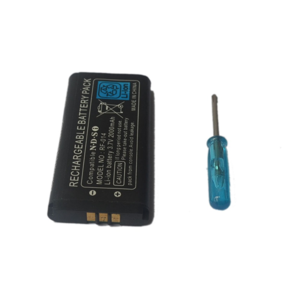 3.7V 2000mAh Rechargeable Lithium-ion <font><b>Battery</b></font> with Free Screwdriver Tool Pack Kit for <font><b>Nintend</b></font> <font><b>DS</b></font> i ND S i image