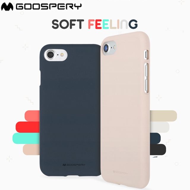 detailed look 10dd5 93579 US $4.99 |Mercury Goospery Soft Feeling Jelly Matte Rubber Case for Apple  iPhone 4 4S 5 5S 6 6S 7 8 Plus X Back Case Original -in Half-wrapped Case  ...
