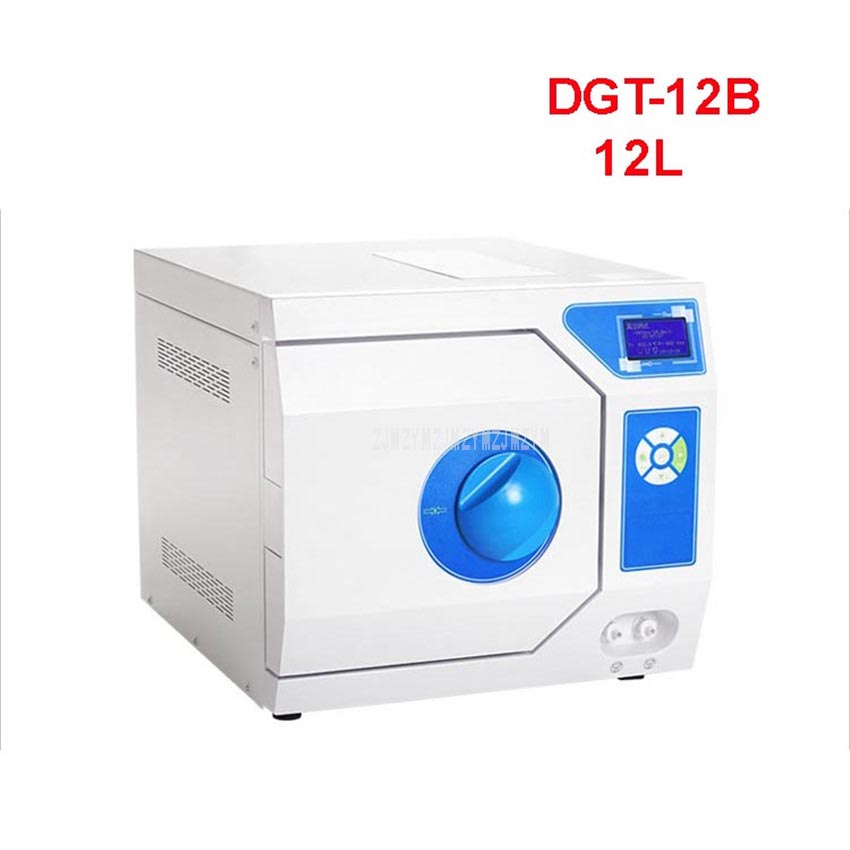 DGT-12B 12L LCD Display Three-Times Pulse Vacuum Disinfecting Cabinet Stainless Steel Sterilize Dental Material Disinfection Box