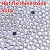1440pcs Good quality Crystal Clear DMC Flatback Hot Fix Rhinestone SS16 3.8-4.0MM Glass Strass Hotfix Rhinestones