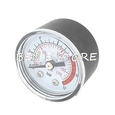 10mm Thread Dia 12 Bar Air Compressor Fittings Pressure Dial Gauge