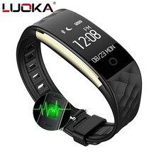 LUOKA S2 esporte Banda Inteligente Pulseira de pulso Monitor de Freqüência Cardíaca Pulseira Smartband IP67 À Prova D' Água Bluetooth Para iphone Android