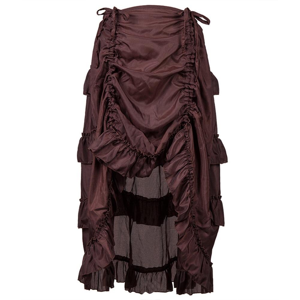 Tulle Skirt Womens Dance Skirt Women's Steampunk Gothic Skirts Ruffles Pirate Skirts Dancing Gauze Tutu Faldasmujermoda12L3