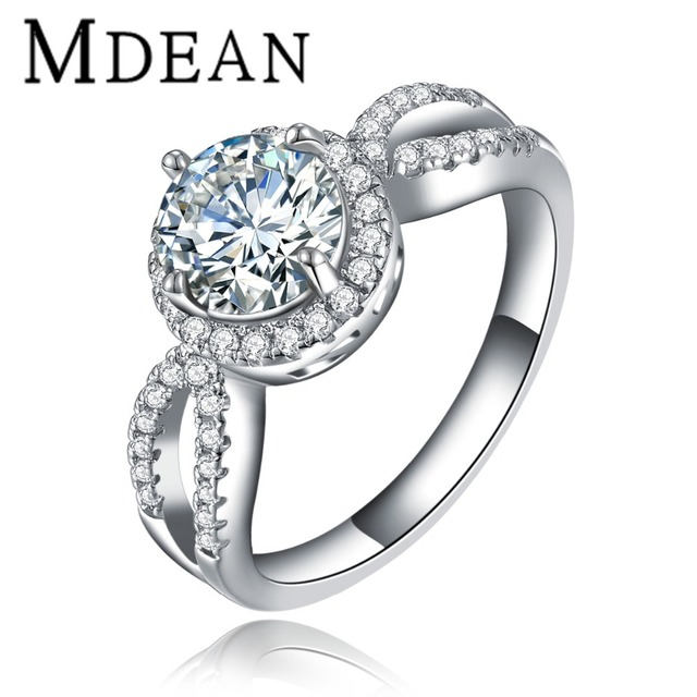 Rings For Wholesale New Hot Romantic White gold plated ring CZ diamond accessories Engagement jewelry for women  MSR076