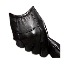 Men's leather gloves thin section sheepskin short  leather  gloves winter touch screen warm driving glove mittens for man