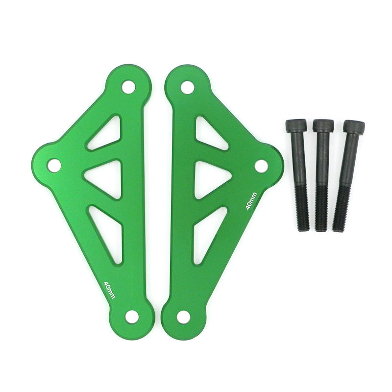 Green Black Adjustable Suspension Linkage Drop Link Kit Lowering