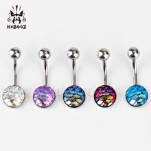 KUBOOZ Navel Belly Button Piercing Ring Stainless Steel Body Jewelry Piercing Nombril Umbigo Stud 5PCS/Lot Fashion Gift Women(China)
