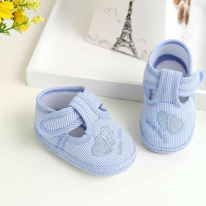 Pasgeboren Meisje Jongen schoenen Soft Sole Crib gestreepte Peuter Schoenen Canvas Sneaker mocassins Baby Schoenen babyschuhe bebek ayakkabi