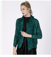 FREE SHIPPING fold solid color fashion turn down collar long sleeve Confetti thin coat HOT SELLING
