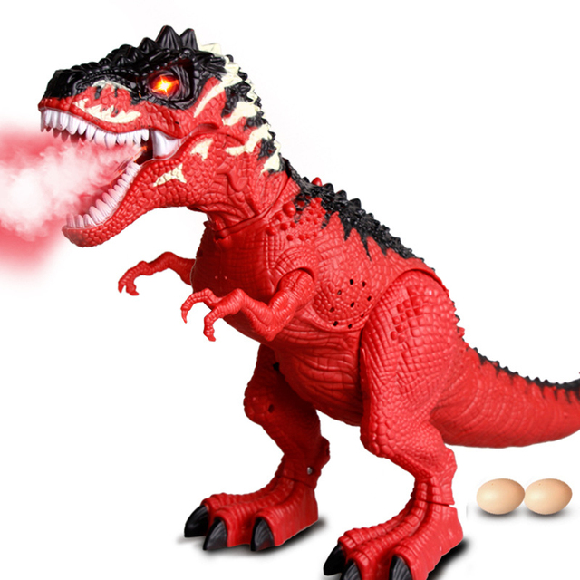Electric Walking Dinosaur Toys with Music Light Spray Large Size Kids Walk Sounds Animals Model Toys for Children Recognization