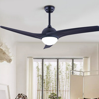 Nordic Minimalist Ceiling Fan LED Lighting Fixture Classical Dining Room ceiling fan lighting With Remote Control 52 inch