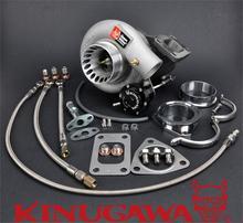 Kinugawa Turbocharger 3 TD05H-18G Nissan TD42 Patrol w/ T3/8cm/V-Band Housing #301-02035-038 turbo manifold turbocharger kit for nissan safari patrol 4 2l td42 gq gu y60 t3 t4 t3t4 to4e 63 a r oil line turbocompresor