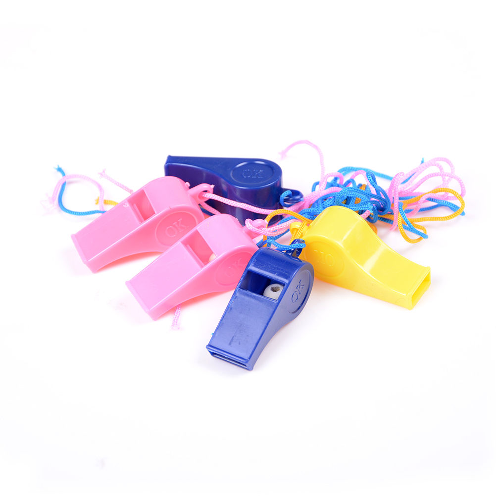 5Pcs Random Color Whistle Referee Whistle Soccer Whistle Cheerleading Basketball Referee Whistle Dolphin