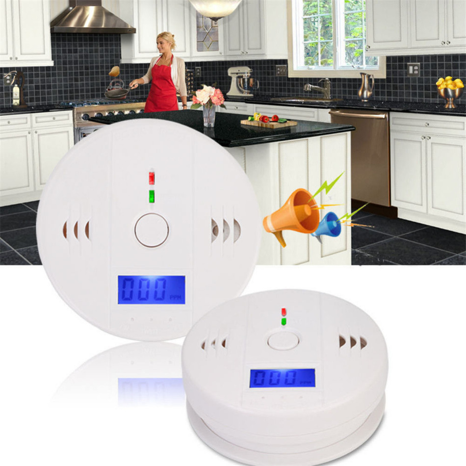 Sensitive Digital LCD Backlight CO Carbon Monoxide Detector Gas Sensor Warning Alarm Tester Home Security Safety