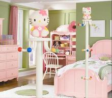 Children's coat and hat stand on the ground cartoon hanging clothes rack is cute and simple modern rotary bedroom household