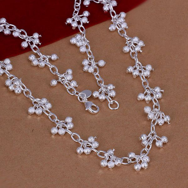 Fashionable And Attractive Packages S-n198 Free Shipping,wholesale,925 Jewelry Silver Plated Grapes Necklace,fashion Jewelry Nickle Free,antiallergic