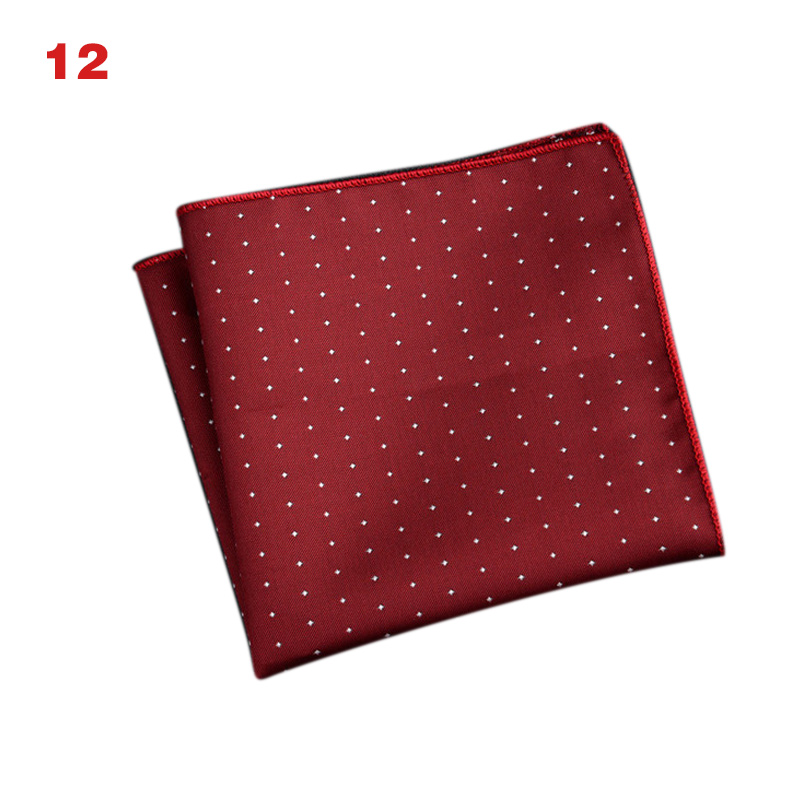Newly Men's Handkerchief  Striped Floral Printed Hankies Polyester Business Pocket Square Chest Hanky DOD886
