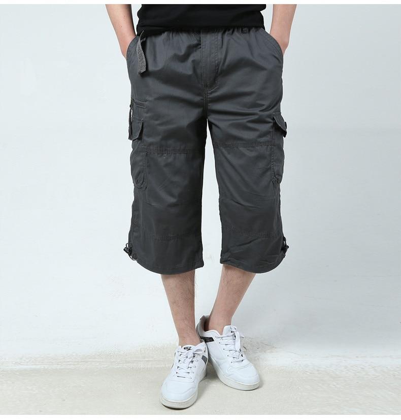 Summer Men's Baggy Multi Pocket Military Zipper Cargo ...