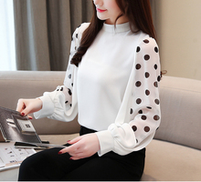 2019 Spring and summer new style Polka dot chiffon top European American explosion models beautiful ladies