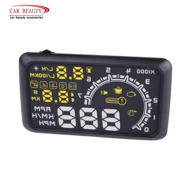 Car HUD Head Up Display LED Overspeed Warning System Windshield Auto Electronic Alarm Fuel Consumption Data Diagnostic