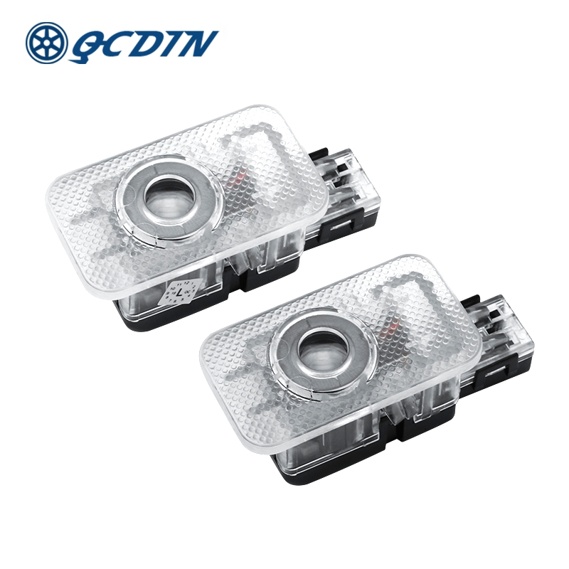 Qcdin para o carro volvo led bem-vindo luz porta logotipo cortesia projetor luz para volvo v40 v60 s60 s80 xc60 xc90