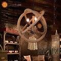 Pingente Lâmpada do vintage Sótão Norte Da Europa Americano Retro Campo Luzes Pingente Com 3 Luzes Para Sala de Jantar, Sala de estar
