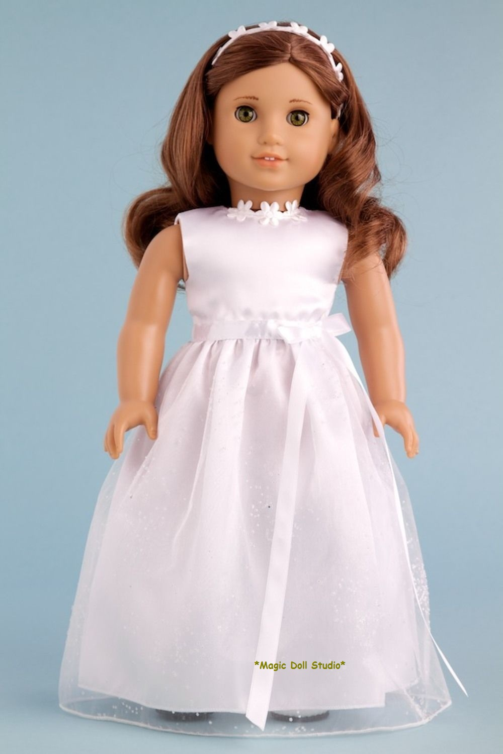 Am033 my first communion clothes for american girl doll for American girl wedding dress