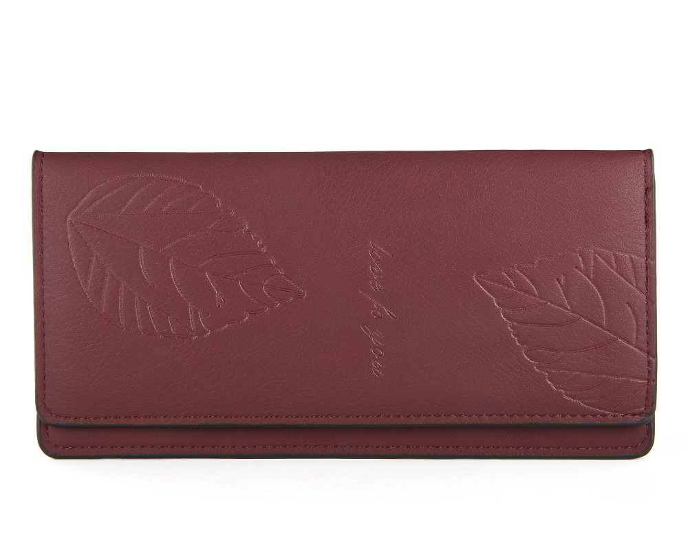 Fashion Leaf Women Wallet Long Thin Women Purse Brand Female Wallet Phone Clutch Casual Lady Purse Bag Card Holder Orgnizer