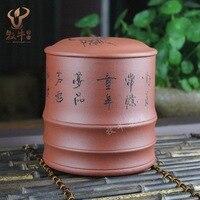 Fornecimento autêntico minério de Yixing cimento claro passo a passo fábrica de chá direta loja lote misto de pote areia roxo