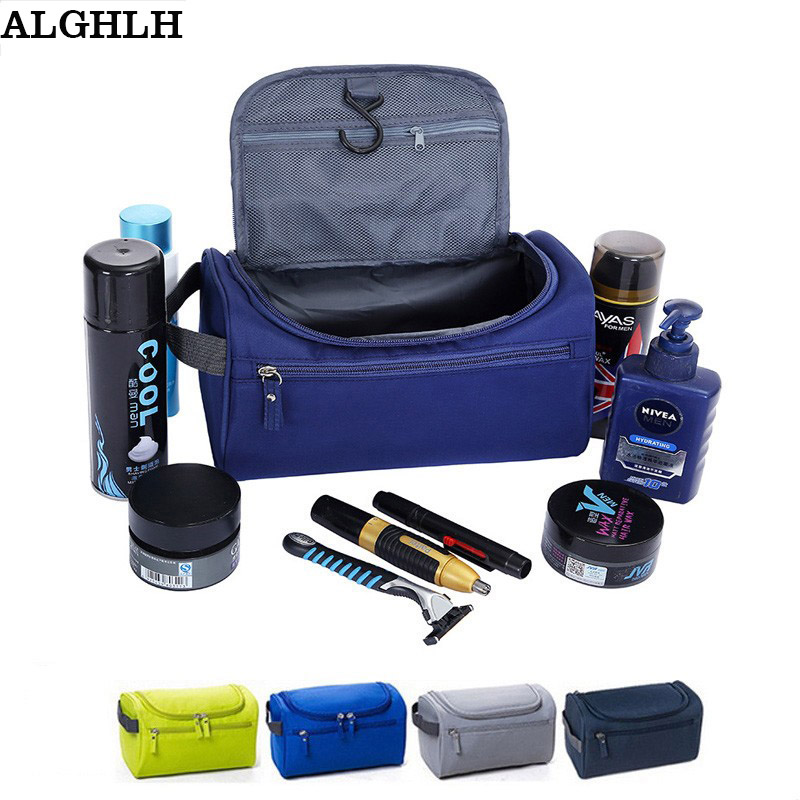 ALGHLH Wome Unisex Blue Print Hängande Toalettsaker Clear Travel Storage Bag Kosmetisk Carry Toiletry Organizer För Resande Badrum
