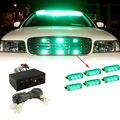 Car Styling 12 V Verde 18 Dash LED Strobe Luz Intermitente de Advertencia de Emergencia Luces de Advertencia A Prueba de agua para el Carro Del Coche