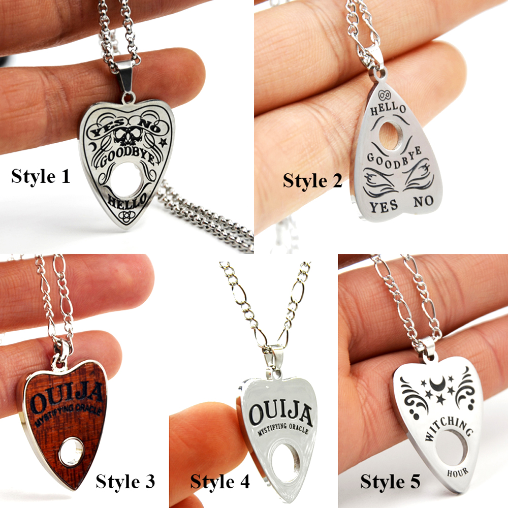 BOG 1PC Stainless Steel Ouija Copper Chain 24 Inches Ouija Board Planchette Necklace pendant High Quality Piercing Body Jewelry Pendant Necklaces    - AliExpress