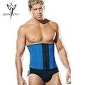 Hombres cintura trainer entrenador que adelgaza el corsé de acero del hueso underwear fajas faja de látex de fitness modelos starp negro bustier