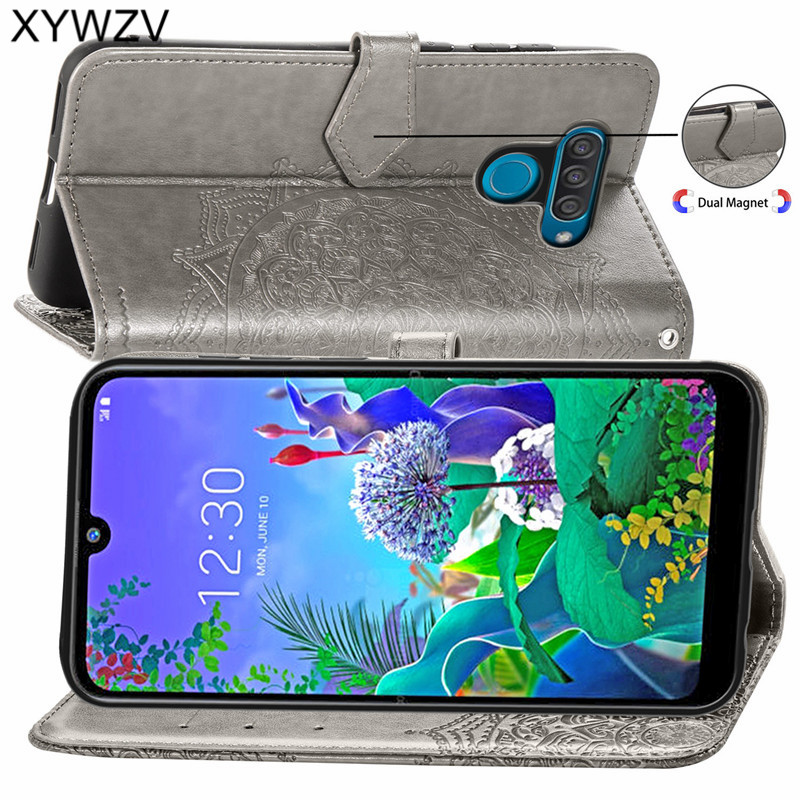 Image 2 - For LG Q60 Case Shockproof Cover Luxury Flip Wallet Soft Silicone Phone Case Card Holder Fundas For LG Q60 Back Cover For LG Q60-in Flip Cases from Cellphones & Telecommunications