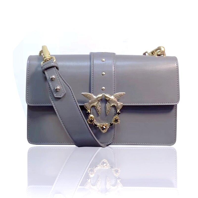 5c02d4250f Vente 2019 date mode hirondelle messenger sac célèbre marque sacs femmes sac  à main en cuir véritable cola lettre rivet chaînes rabat Pas Cher En Ligne.  >>>