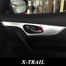 Для 2014 2015 Nissan X-Trail X Trail T32 ABS Chrome интерьер Дверная Ручка Чаши Крышка Внутренняя Боковая Дверь Декоративная Отделка автомобиль Для Укладки