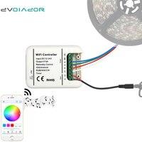 DVOLADOR Smart WiFi LED Controller DC12 24V 5Channels Control RGB RGBW RGBWW 16 Million LED Strip