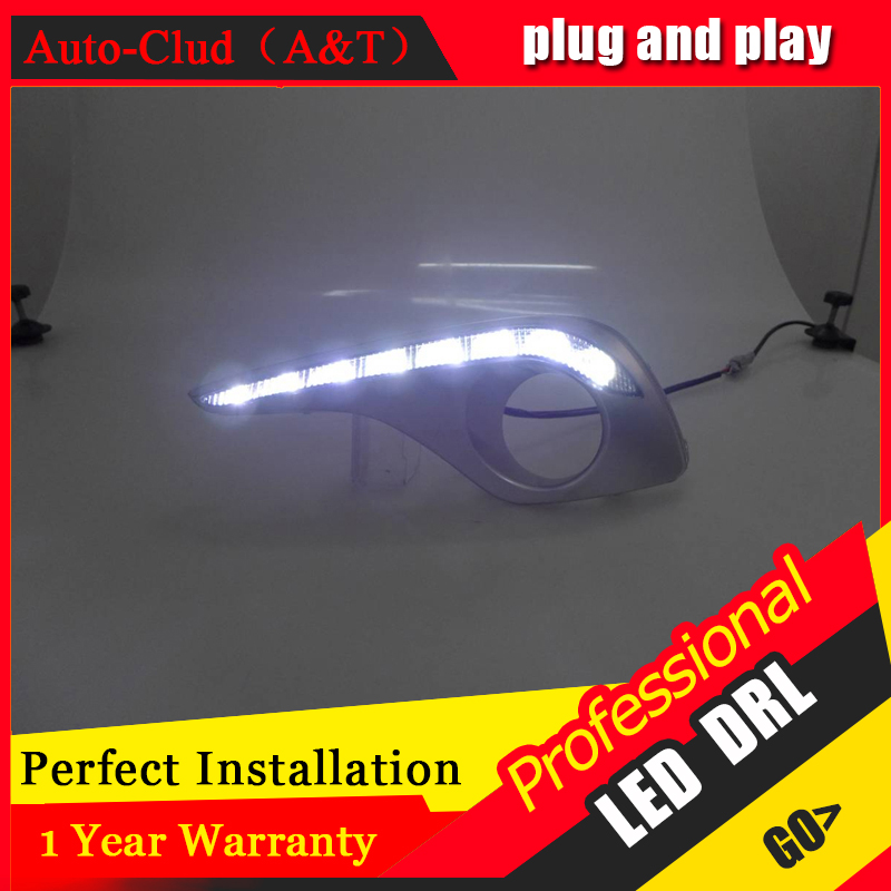 Auto Clud car styling For Toyota Highlander LED DRL For Highlander led fog lamps daytime running light High brightness guide LED auto clud car styling for toyota highlander led drl for highlander high brightness guide led drl led fog lamps daytime running l