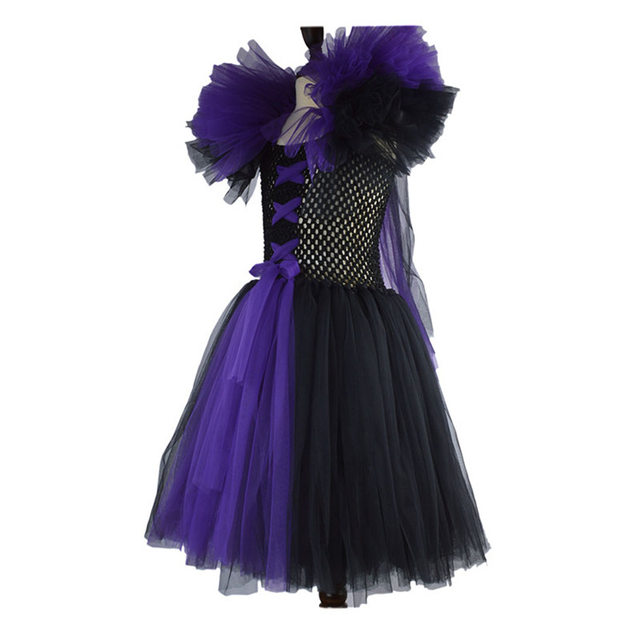 online shop kids child girls maleficent costume carnival halloween