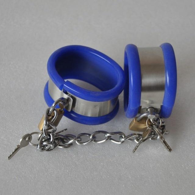 Топ-корпус из нержавеющей стали силиконовые бдсм фетиш связывание наручники наручные ограничения пояс верности наручники эротические игрушки продукты секса