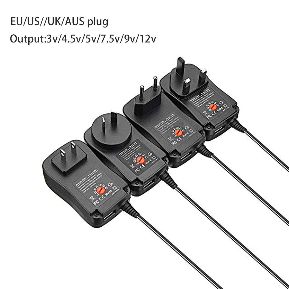 Image 5 - 3V 4.5V 5V 6V 7.5V 9V 12V 2A 2.5A  30W AC DC Adaptor Adjustable Power Adapter Universal Charger Supply for led light strip lamp-in AC/DC Adapters from Consumer Electronics