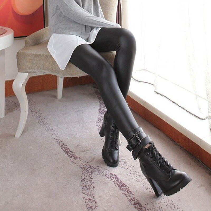 Leather   leggings     Legging   Women Full Length   Leggings   Fitness Knitted Black Long Pants   legging   womens plus size fashions