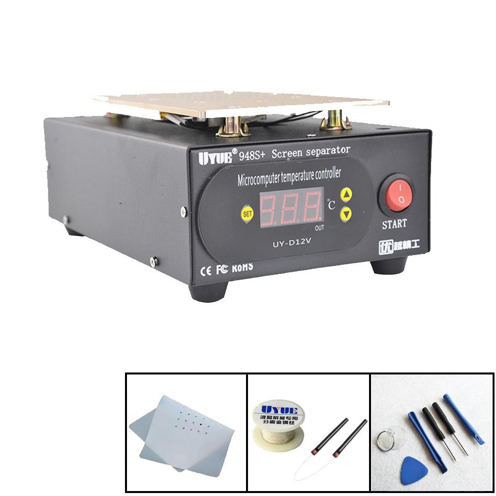 LCD Separator Machine Build-in Pump Vacuum Screen Repair Machine Kit For Smart Phone iPhone /Samsung Refurbish UYUE 948S+