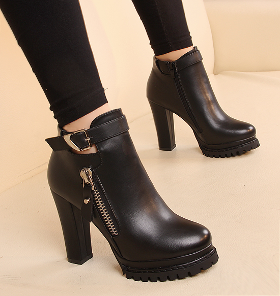 Aliexpress.com : Buy Fashion winter boots thick heel heeled boots ...